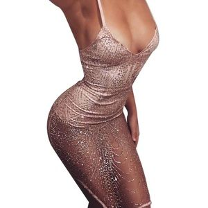 Sexy Lady Hollow-out Bodycon Party Dress